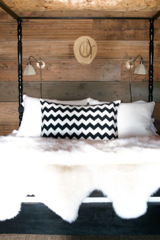 rustic bedroom, windsor smith: Cream Beds, Dreams Bedrooms, Rustic Bedrooms, Bedrooms Design, Chevron Pillows, Design Bedrooms, Bedrooms Style, Bedrooms Minus, Bedrooms Decor
