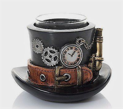 Yankee Candle Steam Punk Gears Hat Votive Candle Holder