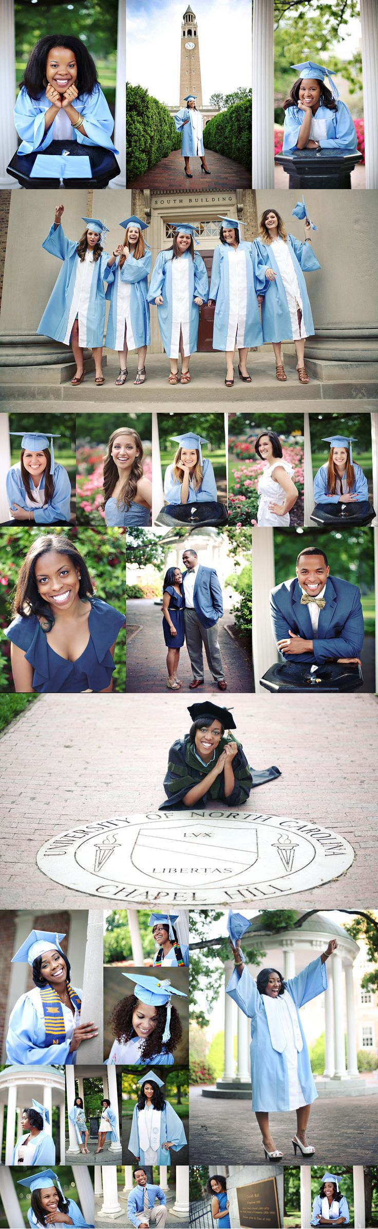 Senior graduation portraits, Posing, friends, flowers all around the campus. I really like this idea.