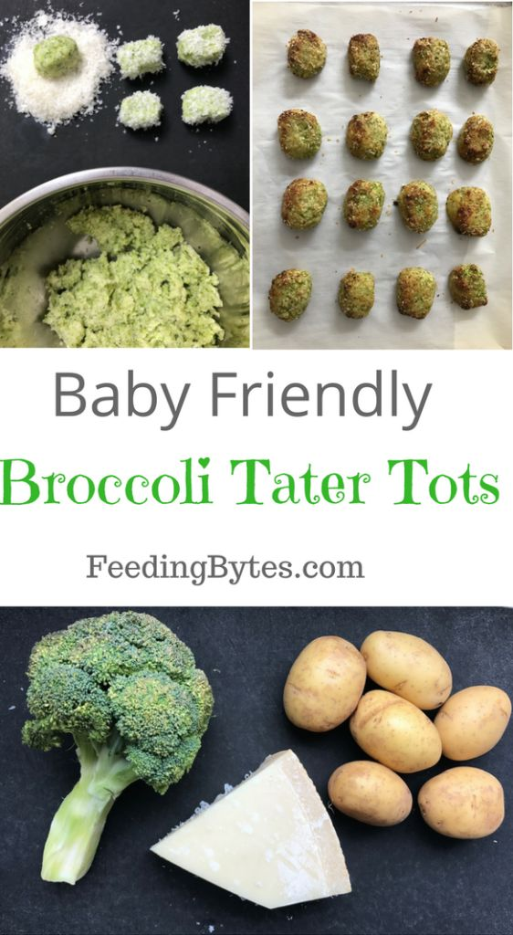 Broccoli tater tots are a perfect finger food for your baby and a healthy snack for you. These little guys tick all the boxes. Easy – tick! Fast – tick! The winning broccoli+cheese combo – tick! Appropriate for babies 6 month+ and toddlers – tick! Freezer friendly – tick!