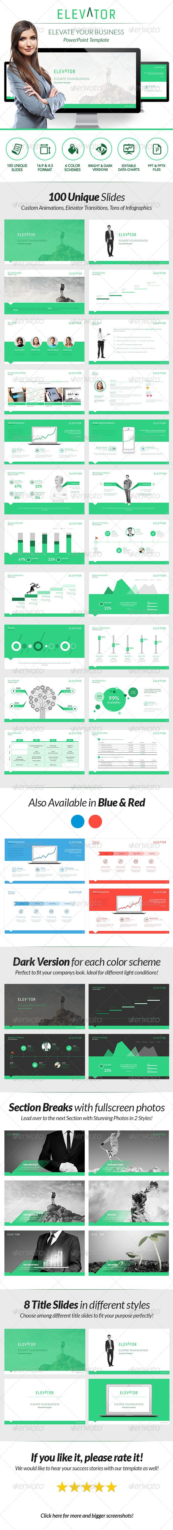 Presentation Templates - Elevator PowerPoint - Elevate Your Business | GraphicRiver