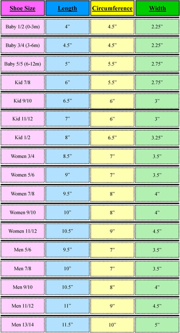 Several sizing charts from Glamour 4 You.