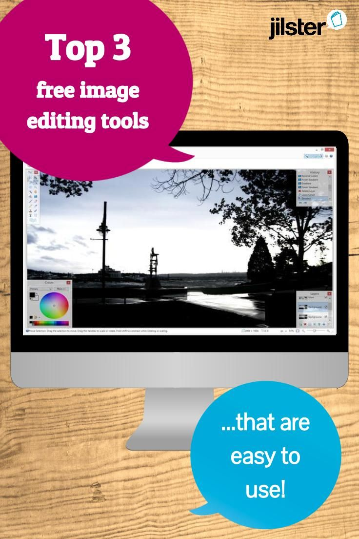 Use these 3 free and easy to use image editing tools to edit your photos and images before you upload them into the Jilster magazine editor. Then create your very own magazine with your photos and images!