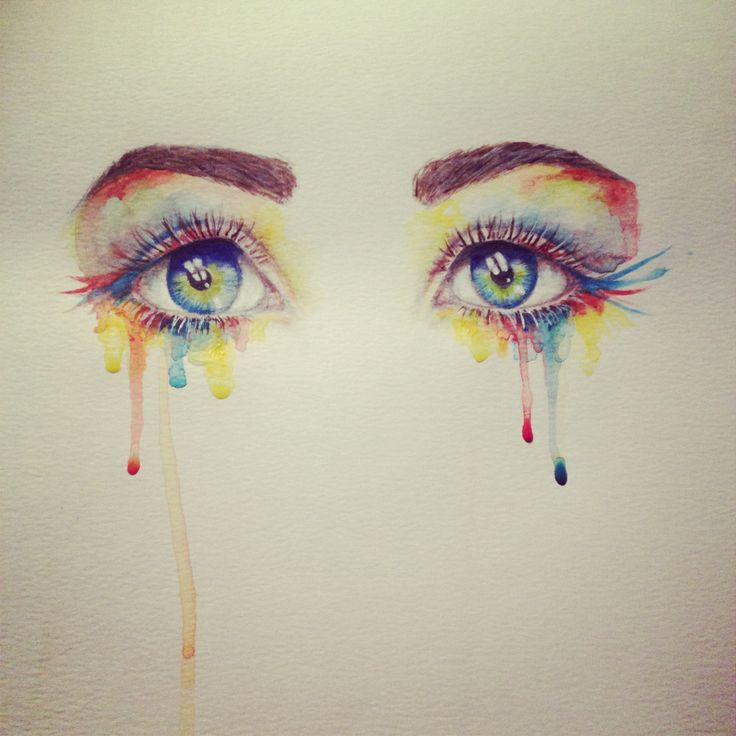 Watercolor eyes | Pouring Art | Pinterest