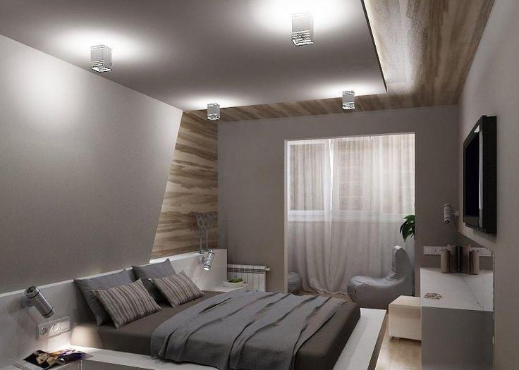 modernes schlafzimmer in grau und wei wand und decke mit holz verkleidet wohnen pinterest. Black Bedroom Furniture Sets. Home Design Ideas