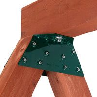 Features:  Product Type: -Swing set hardware.  Color: -Green.  Material: -Metal.  Country of Manufacture: -United States.  -Includes one bracket only.  -Lumber not included.  -EZ Frame Bracket elimina