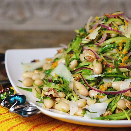 Shaved Asparagus & White Bean Salad