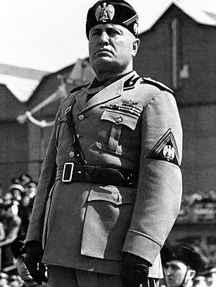 """DOWN WITH DICTATORS Benito Mussolini By Nate RawlingsThursday, Oct. 20, 2011 dek AP Photo Unlike the mystery surrounding the death of Adolf Hitler, the end of Benito Mussolini was indisputable. The """"Duce of Fascism"""" ruled Italy from the time of his election as Italian Prime Minister in 1922 until he was deposed and imprisoned by the Grand Council of Fascism in 1943 as the Allies invaded Italy."""