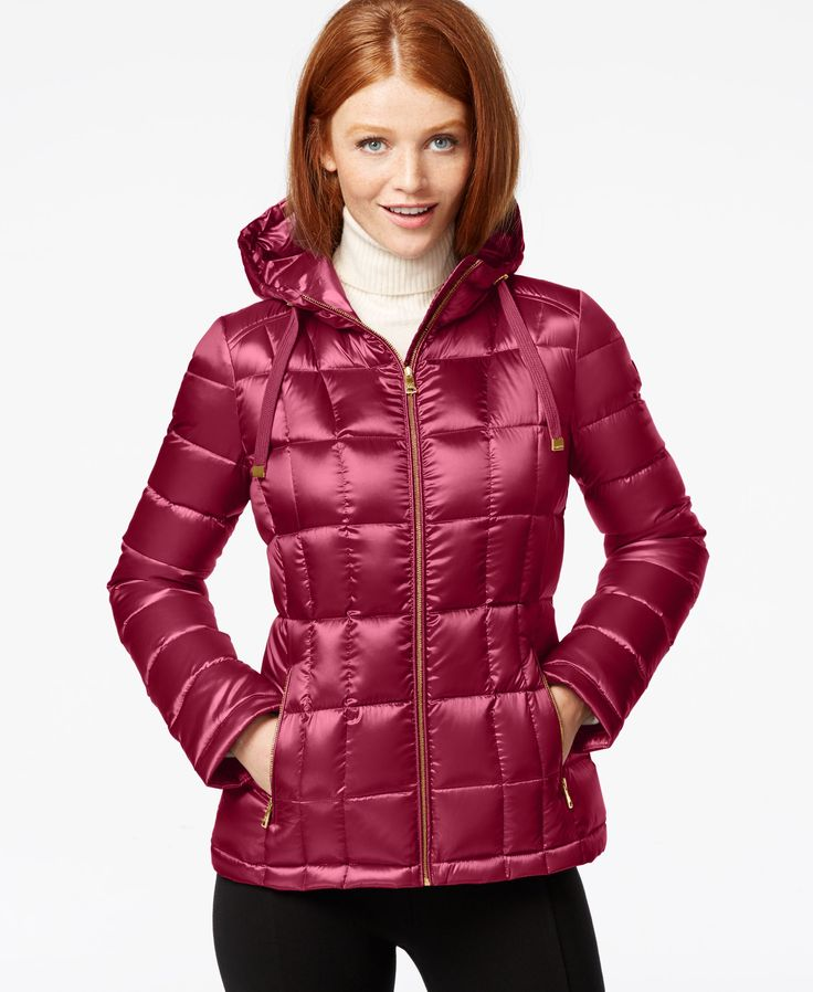 Calvin Klein Metallic Packable Down Puffer Coat