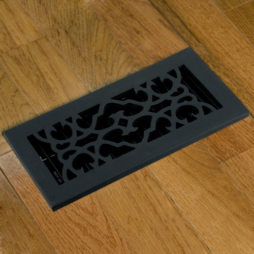 Cast Iron Floor Vent Cover Signature Hardware Black