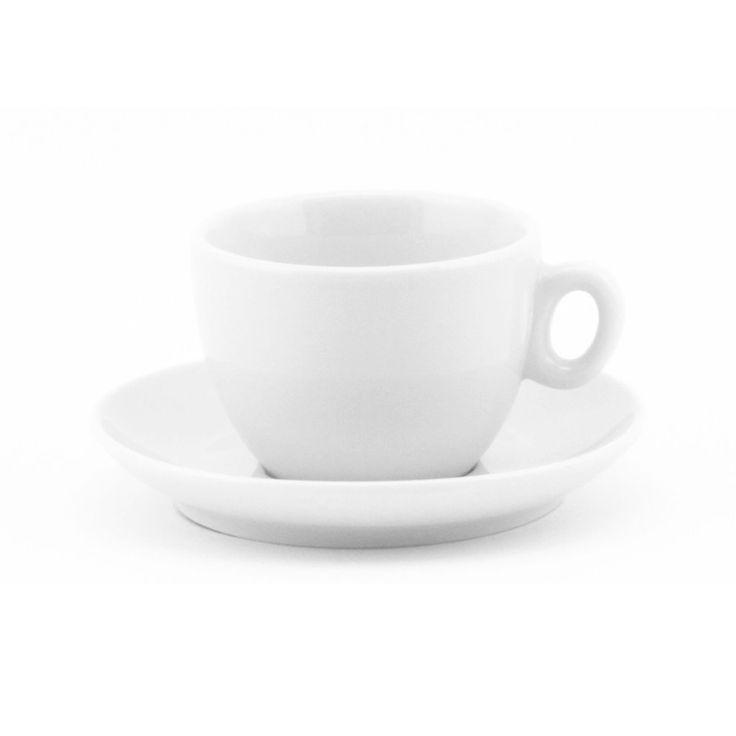 Inker white cappuccino cup 6 oz demitasse