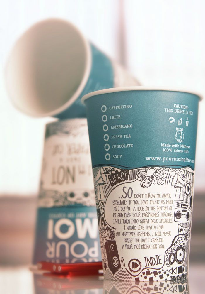 Where can I my own paper cup design printed?
