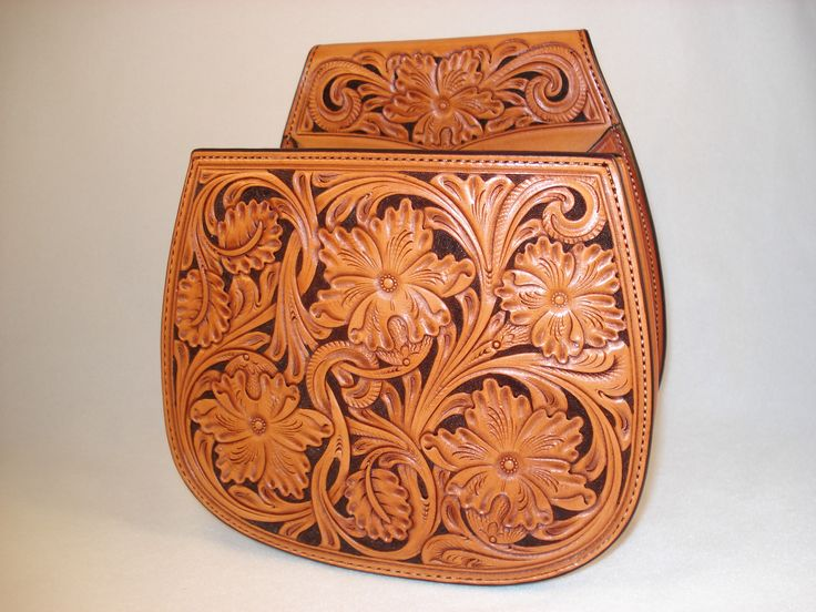 Hand Carved Leather Shotgun Shell Pouch By Keith Seidel