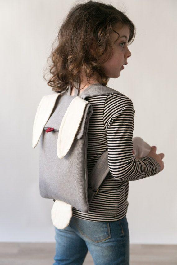 BUNNY CHILDREN BACKPACK rabbit backpack small children by Marinsss