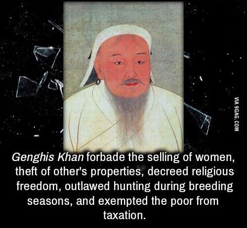 Good guy Genghis Khan - www.viralpx.com                                                                                                                                                                                 More