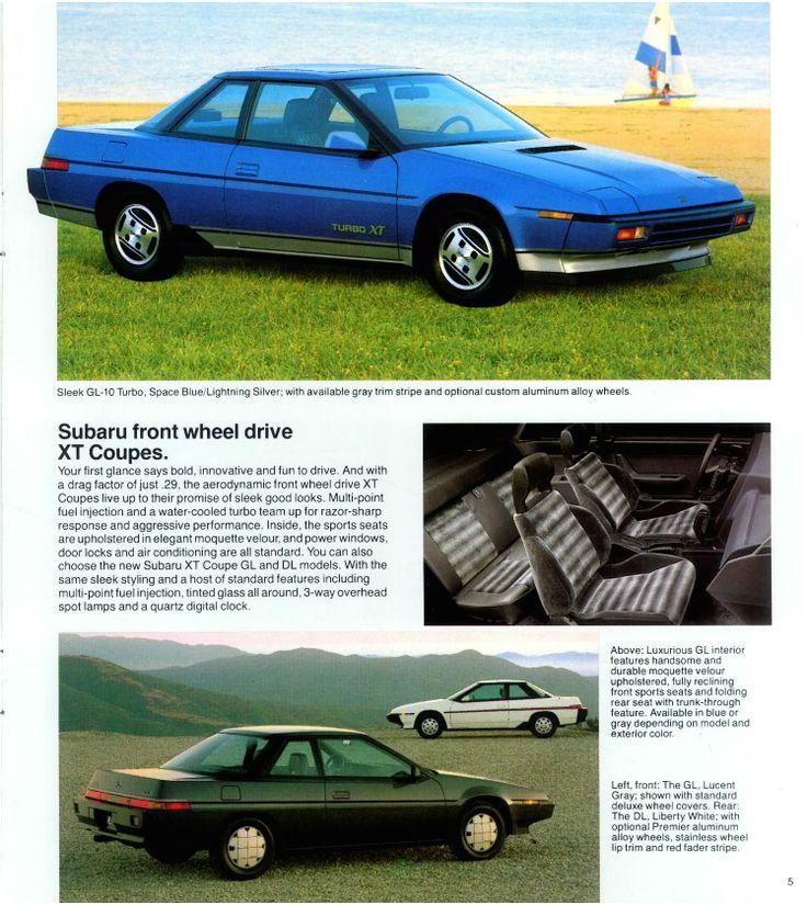 Subaru Front Wheel Drive : Subaru front wheel drive xt coupe vintage retro
