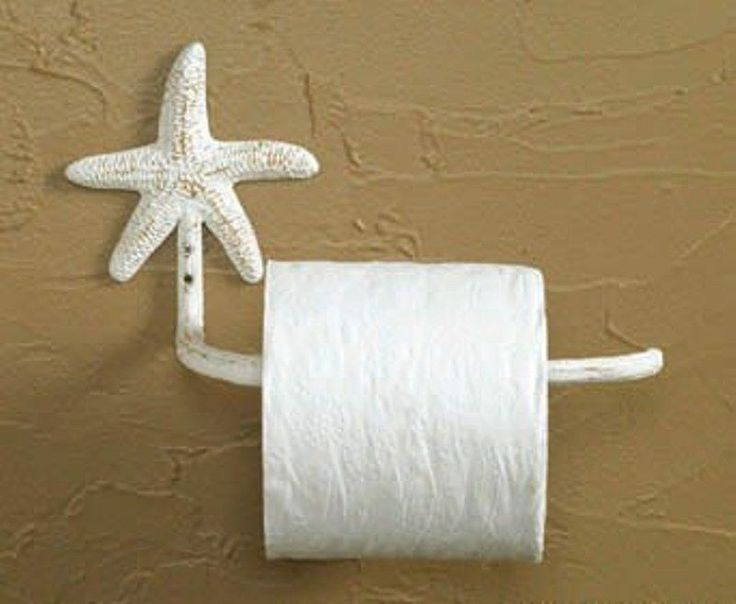 Tropical Nautical White Starfish Toilet Tissue Paper Holder Painted Metal in Home, Furniture & DIY, Bath, Toilet Roll Holders | eBay