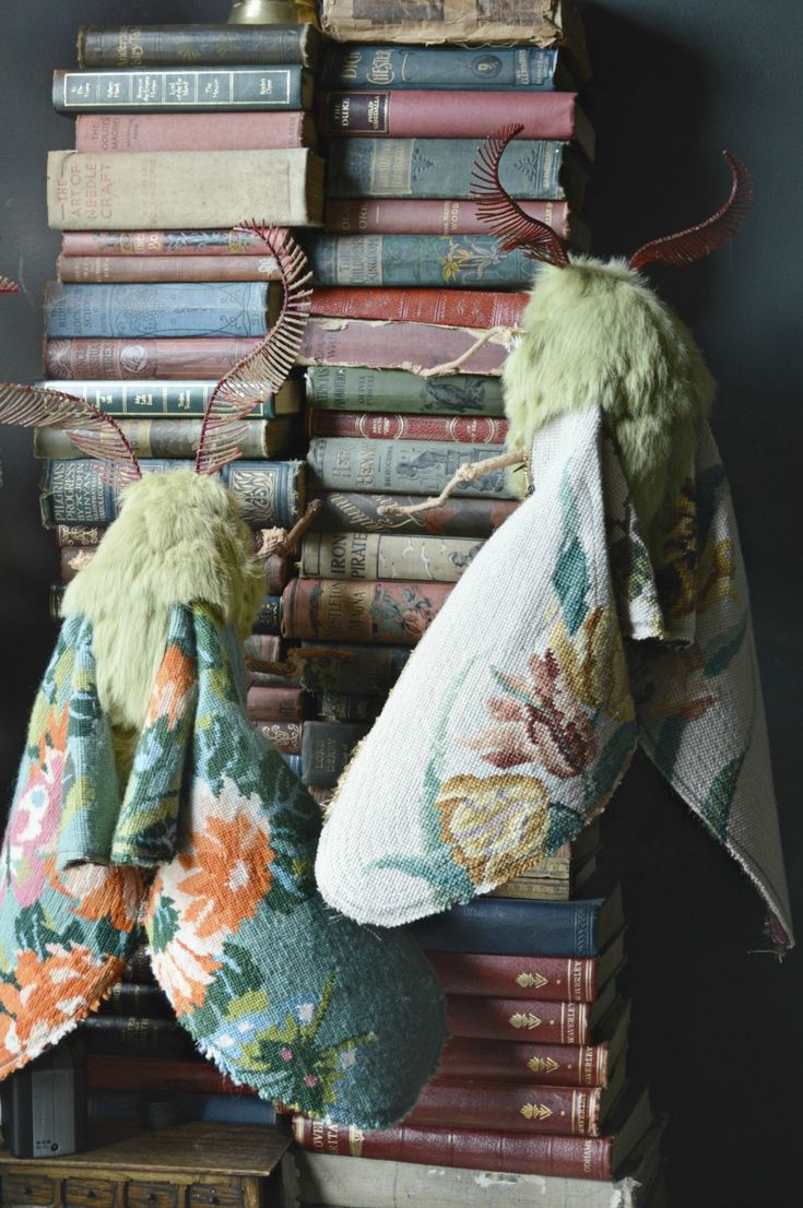 New Vintage Textile Flora and Fauna Sculptures by Mister Finch
