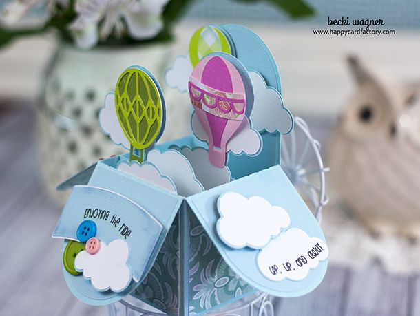 242 best cards images on pinterest diy cards handmade cards and hot air balloon box card by becki negle Gallery
