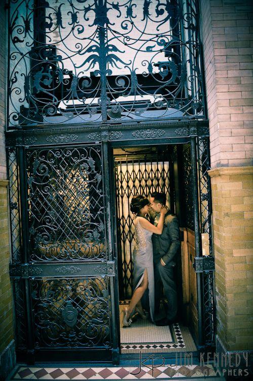 Los Angeles Engagement Session, Bradbury Building  Jim Kennedy Photographers