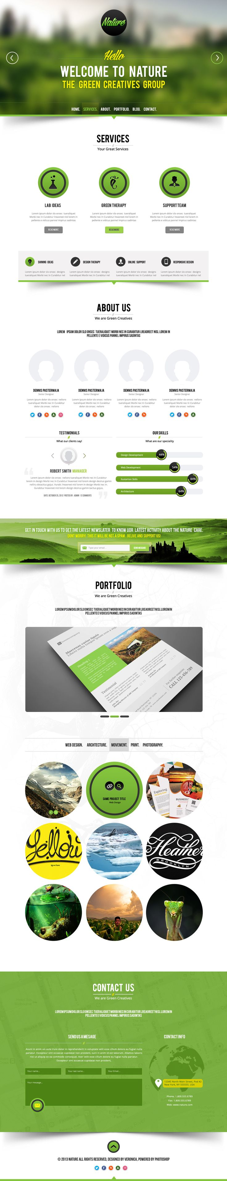 Nature Psd Template | #webdesign #it #web #design #layout #userinterface #website #webdesign