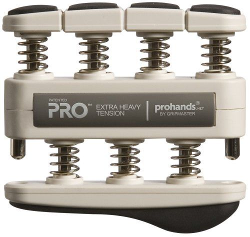 Gripmaster Pro Hand Strengthening System, Extra-Heavy Tension (11 Pounds per Finger)