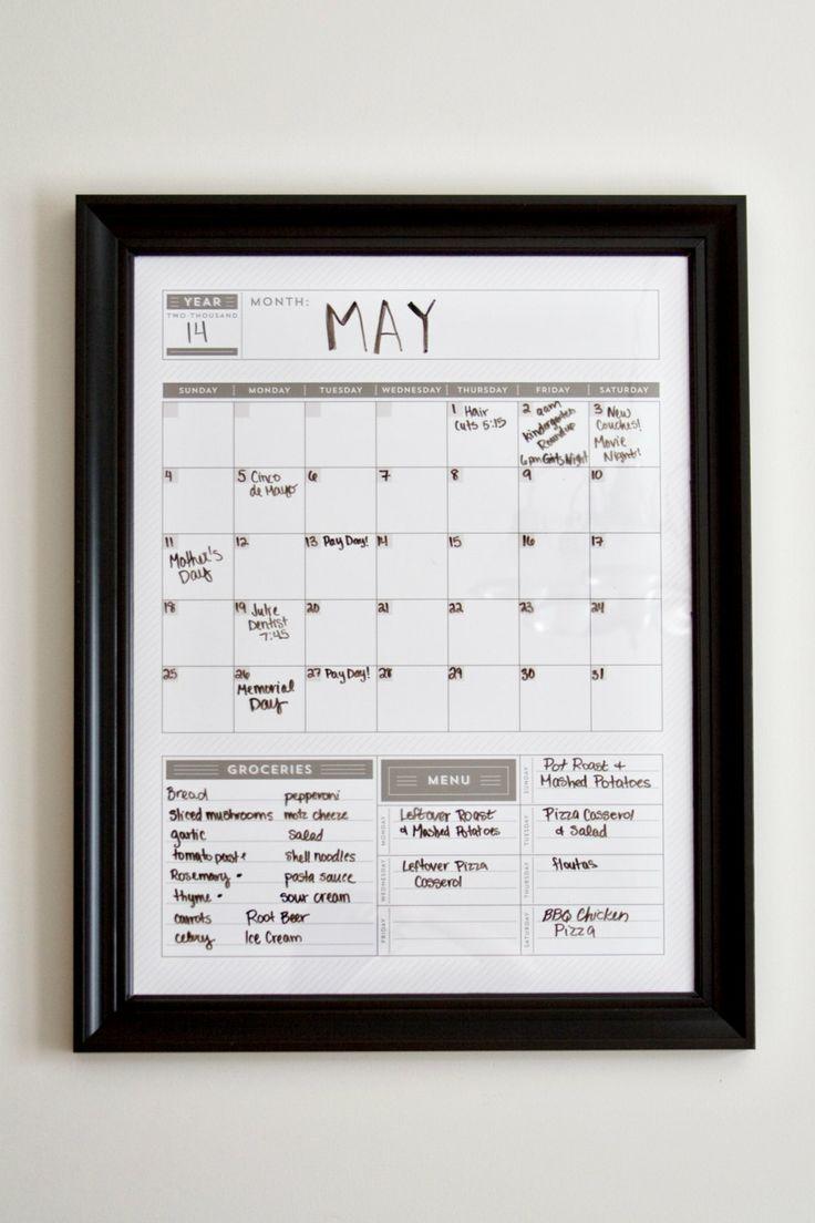Diy Wall Calendar Organizer : Vertical calendar wall monthly organizer