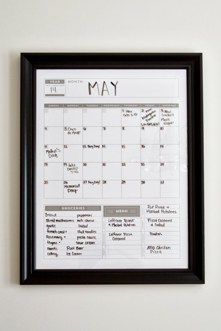 Reusable Monthly Calendar : Vertical calendar wall monthly organizer