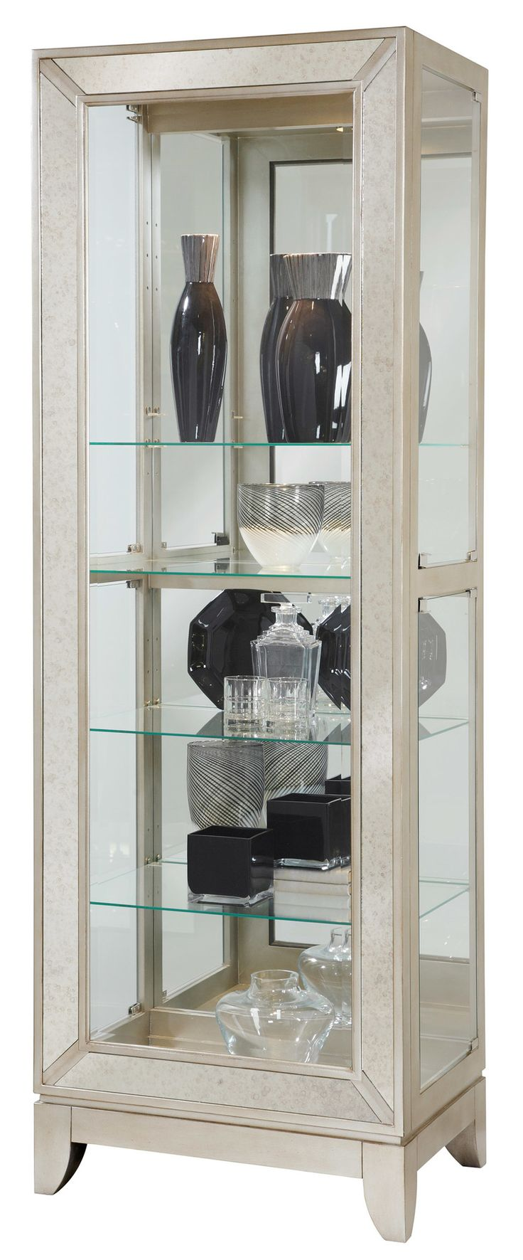 64 best curio cabinets images on pinterest curio cabinets china curios platinum side entry curio by pulaski furniture at wayside furniture