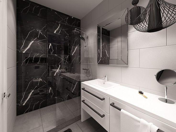 Kapa Studio - duże płytki, zabudowa prysznica