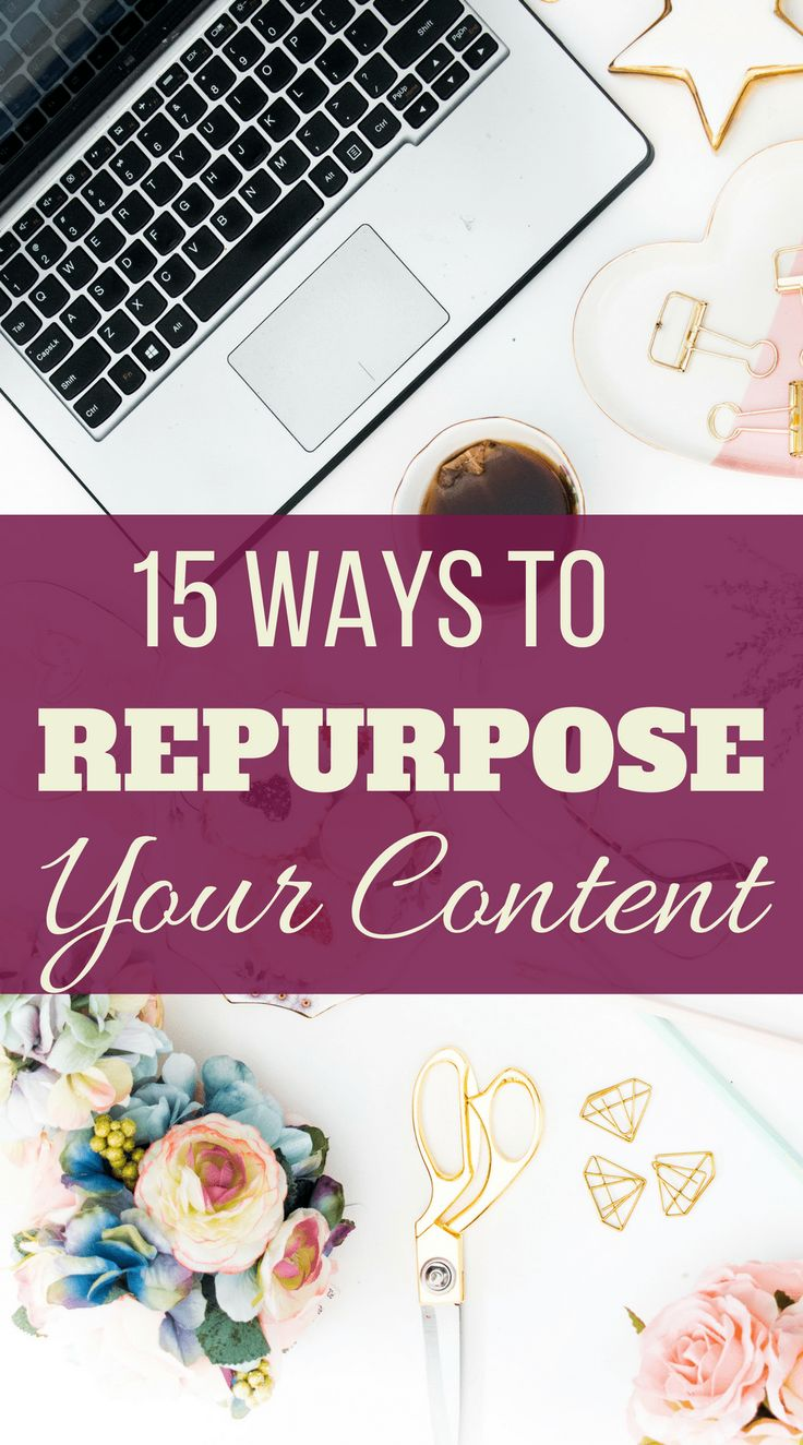 You should repurpose content to save time instead of always coming up with new ideas. It also helps to build authority by discussing topics multiple times. #contentmarketing #content #blogging
