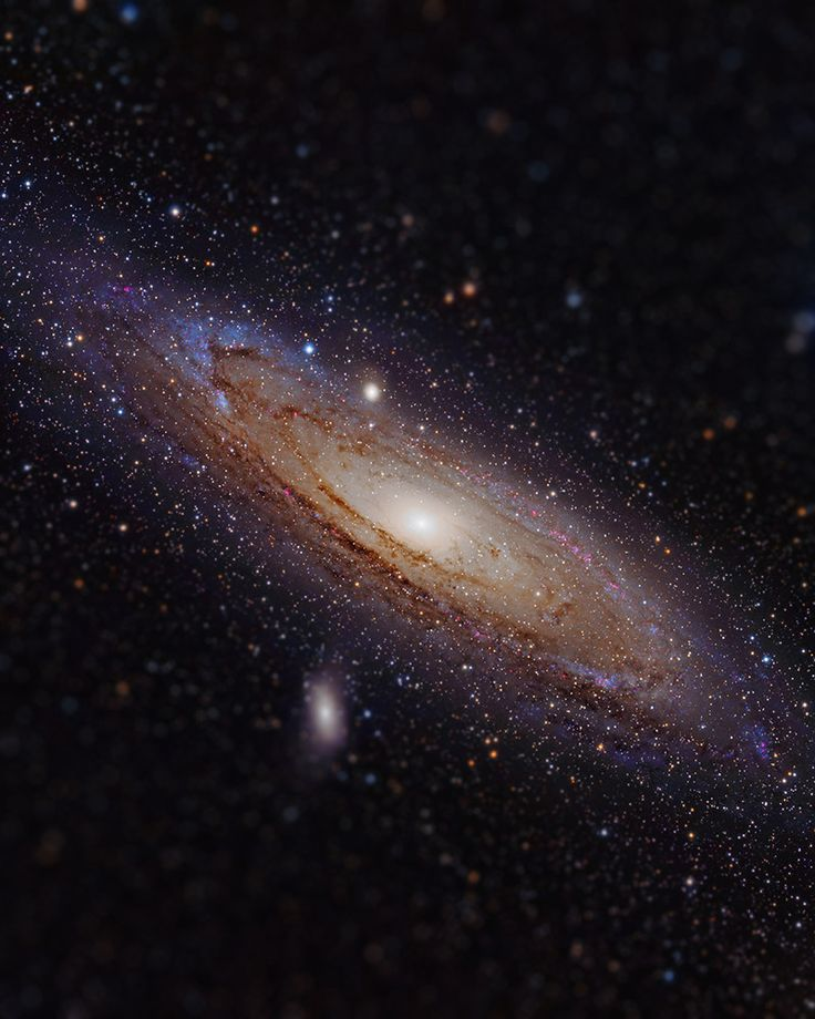 Tilt-shifted Andromeda Galaxy in hydrogen alpha
