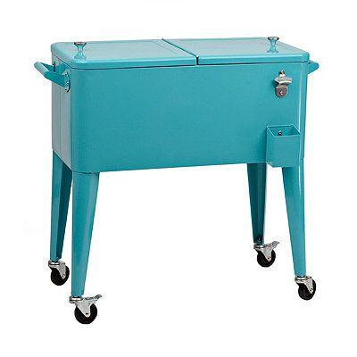 Retro Turquoise 80-qt. Patio Cooler