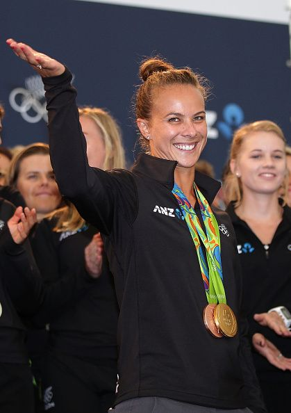 Gold and bronze canoe sprint medalist Lisa Carrington during the New Zealand…