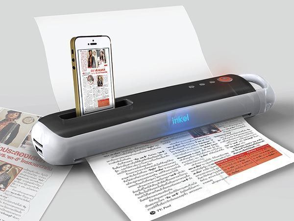 Smart Magic Wand Concept Portable Printer and Scanner with iPhone Dock