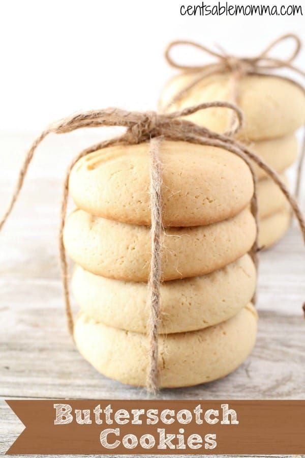 Create these fun and delicious Butterscotch Cookies from scratch. They're perfect as a treat or you can wrap them up and give them away as gifts. Yum! #cookie #recipe