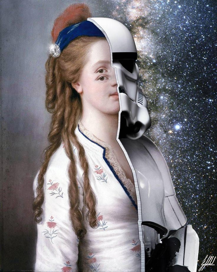 #famous #painting #lady #starwars #stormtrooper #armor #artwork #art #photomanipulation   The real Stormtrooper.  Portrait of a young lady original painting by Jean-Étienne Liotard.