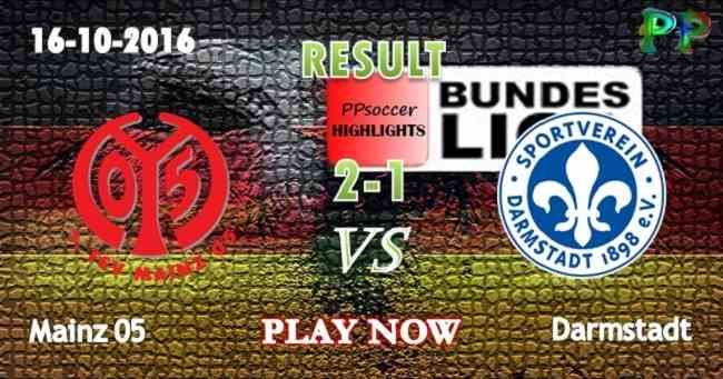 Mainz 2 - 1 Darmstadt 16.10.2016 HIGHLIGHTS - PPsoccer