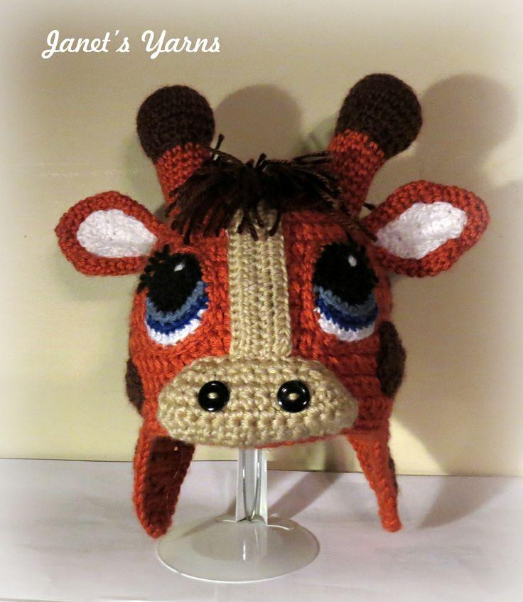 Crochet Giraffe Hat Pattern For Dogs : 163 best images about Crochet Character Hats on Pinterest ...