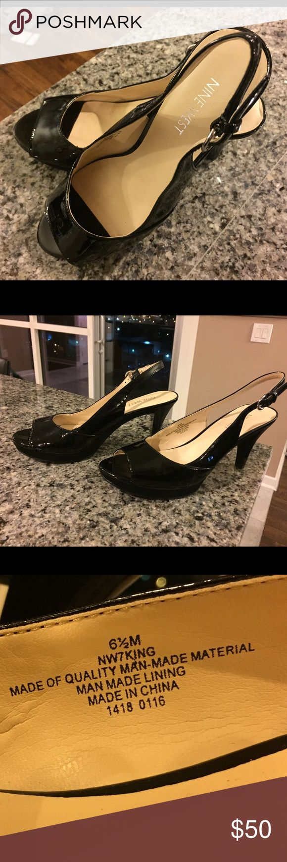 Nine West BRAND NEW heels with back strap Brand New never worn, Nine West, 61/2, Black, pumps, not too low not too high with back strap Nine West Shoes Heels