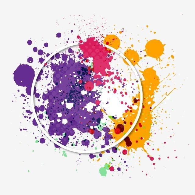 Festival Of Colors Splash Badge Holi Splash Background Png And