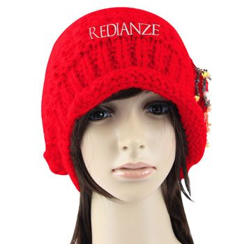 Wholesale distributor provides personalized Slouch Knitted Flower Beanie, promotional logo Slouch Knitted Flower Beanie and custom made Slouch Knitted Flowe