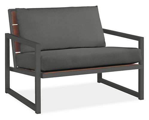 rooftop! Montego Lounge Chairs with Cushions - Montego Seating in Graphite Finish - Outdoor - Room & Board