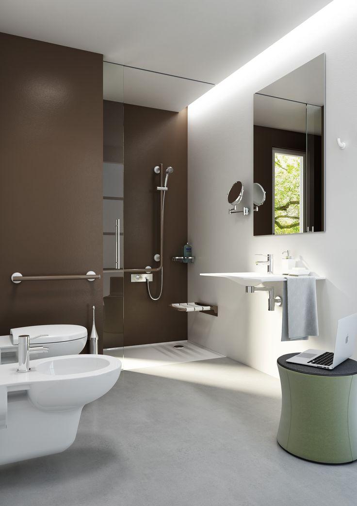 Pi di 25 fantastiche idee su bagno per disabili su - Bagno disabili con doccia ...