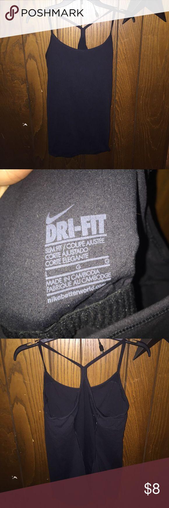 Black Nike Tanktop! Black Nike Tanktop! Gently worn! No rips or holes. Nike Tops Tank Tops