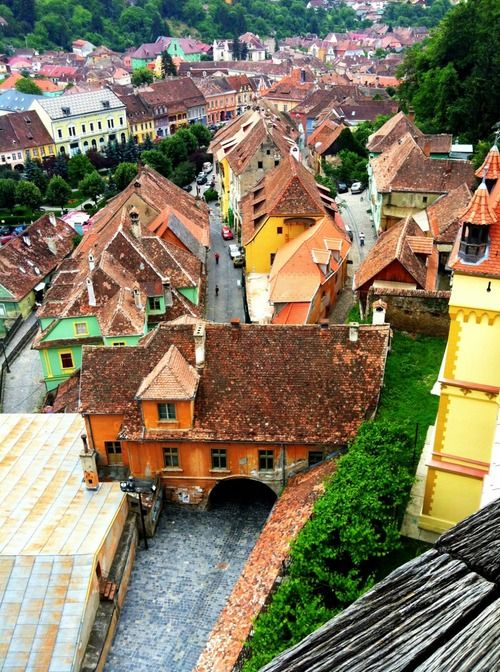 simpleromania: Simple view. In Sighisoara, Transylvania. Photo...