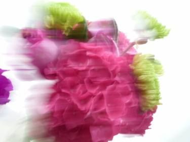 Racing Flowers, by #patriciamccarthy.   www.saatchigallery.com .  #floral,  #flowers,  #hydrangea, #ranunculus,  #pink