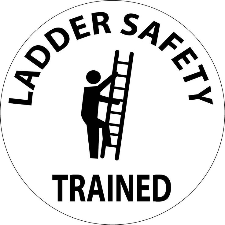 "Ladder Safety Trained (With Graphic) | 2"" Circle 