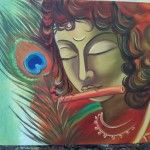 Contemporary Krishna Buy/Sell Paintings Online at www.abstract4life.com  Find art work that matches your style. Rich collection of Paintings and Sketches