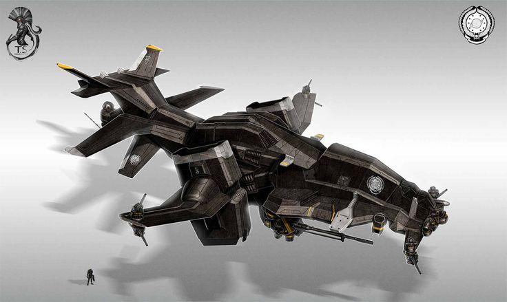 Vectored-thrust heavy gunship.